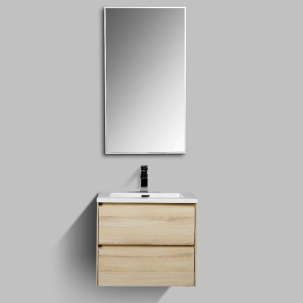 Enzo Wall Hung Vanities Double Drawer Enzo Wall Hung Cabinets Sahara Colour
