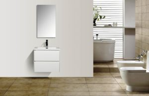 AVA Enzo 600 Vanities Double Drawer Wall Hung Cabinets White Gloss Colour Modern Bathroom