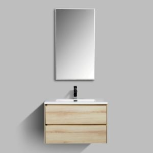AVA Enzo 800 Vanities Double Drawer Wall Hung Cabinets Sahara Colour