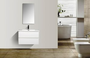 AVA Enzo 800 Vanities Double Drawer Wall Hung Cabinets White Gloss Colour Modern Bathroom