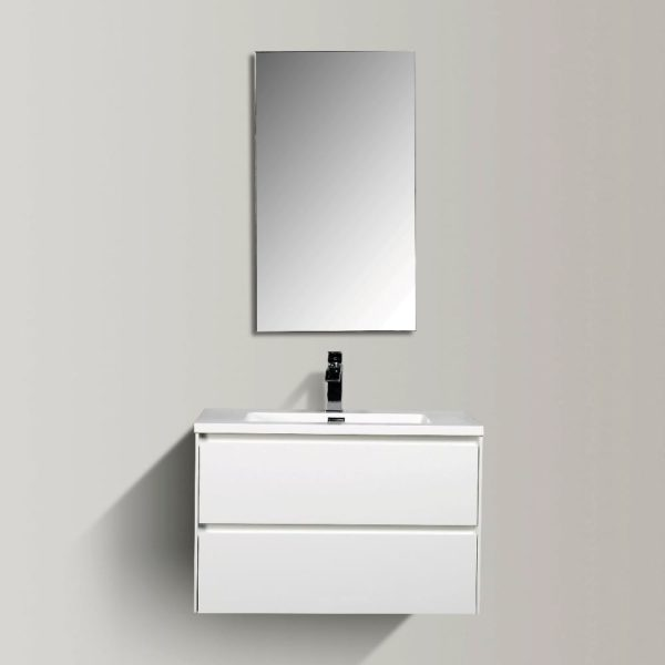 Enzo 800 Vanities White Gloss Colour Wall Hung Cabinets Double Drawer