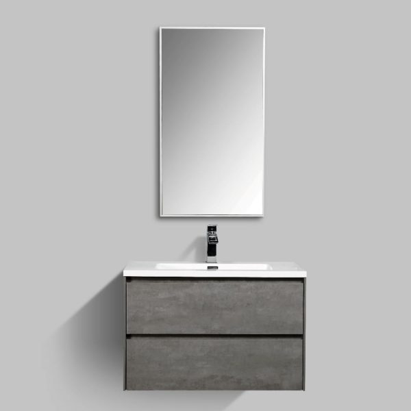 Enzo Wall Hung Vanities Double Drawer Enzo Wall Hung Cabinets Concrete Colour