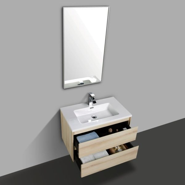 Wall Hung Vanities Sahara Colour Wall Hung Cabinets With Double Open Drawers