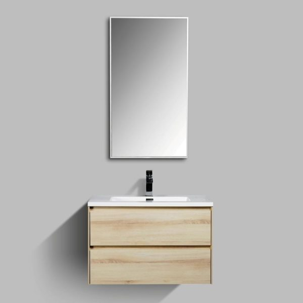 Enzo 900 Wall Hung Mirrors Aluminium Frame AVA Enzo 800 Vanities Sahara Colour