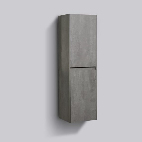 AVA Enzo Side Cabinets 1200 Wall Hung Double Door Concrete Colour