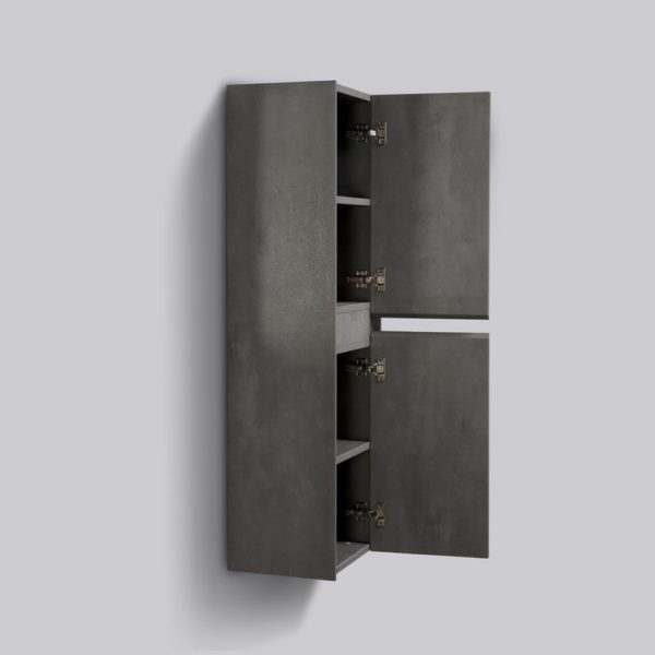 Concrete Colour Enzo Side Cabinets Double Open Door