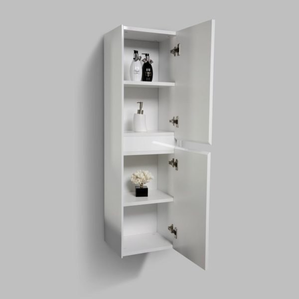 White Gloss Colour Enzo Side Cabinets Double Open Door
